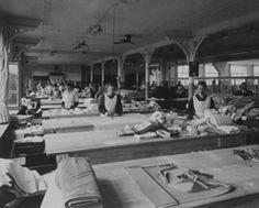 Lingerie workshop - interwar period.