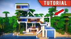 Minecraft: How To Build a JUNGLE Village / Modern TreeHouse Tutorial [ How to make ] 2017 building. Minecraft Mansion Tutorial, Minecraft House Tutorials, Minecraft Tutorial, Minecraft Designs, Minecraft Creations, Casa Medieval Minecraft, Modern Minecraft Houses, Minecraft City Buildings, Minecraft Architecture