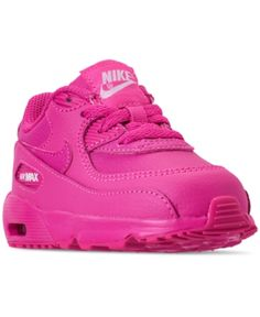 740b9cc9cd Nike Toddler Girls' Air Max 90 Leather Running Sneakers from Finish Line -  Red 5