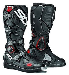 Sidi Crossfire 2 SRS Enduro Motocross Off Road Boots - Black / White Nylons, Crossfire, Forma Adventure, Offroad, Adventure Boots, Motocross Gear, Neue Outfits, Armor Concept, Riding Gear