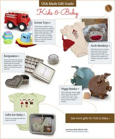 Made in the USA Gift Guide - American Made Gifts for Kids & Baby