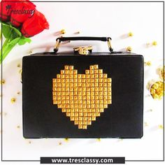 Our Black Heart Studded Briefcase Bag.  Check us out @www.tresclassy.com or contact us on 8655432303  Available at an Inaugural discounted price of INR.2799/- (MRP - INR.3999/-) #Tresclassy #black #briefcase #Heart #stud  #l4l #designerhandbag #fashion #like4like #shopping #luxury  #TresclassyBriefcases #instagood #followme #photooftheday #shoppingspree #christmas