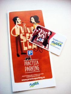 Desde La Caseta hemos realizado el diseño y producción de los folletos y tarjetas de la promoción Practica Parking de AUSSA. Aquí tenéis el resultado. ¿Qué os parece?