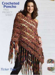 Free Fabric Poncho Pattern | CROCHET EASY PATTERN PONCHO « CROCHET FREE PATTERNS
