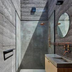 Balnarring Beauty Bathroom design Concrete bathroom with sky light Minimal house. Balnarring Beauty Bathroom design Concrete bathroom with sky light Minimal house design House Architecture home design interior design exterior design
