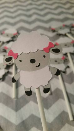 12 Lamb Cupcake Toppers by BellasPerfectParty on Etsy