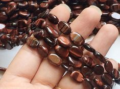 WHOLESALE 5 Strands Red Tigers Eye Beads Natural by gemsforjewels