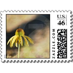 Yellow Echinacea Postage Stamps