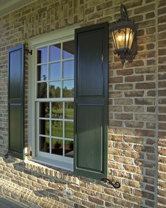 Exterior Brick Design, Pictures, Remodel, Decor and Ideas - page 24 Grey Brick Houses, Stone Exterior Houses, House Exteriors, Brick Design, Exterior Design, Exterior Colors, Painted Window Frames, Brick Companies, Lake House Plans