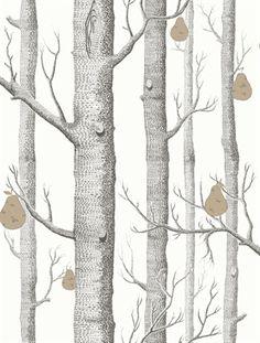 """Cole & Son - Contemporary Restyled. Tapeter med fler djärva retro mönster i moderna färgsättningar. Innehåller bland annat det hyllade """"Woods"""" mönstret."""