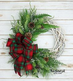 Rustic Christmas Wreath for Front Door Country Christmas