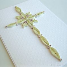 Paper Quilled Cross- cute idea and easy to use! Easy to do even with different patterns!