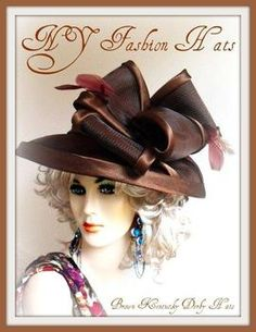 Shop NY Fashion Hat For Custom Dress Hats For Women, Ladies Church Hats, Cocktail Hat, Wedding Fascinators Derby Attire, Tea Hats, Funny Hats, Floppy Hats, Church Design, Kentucky Derby Hats, Stylish Hats, Church Hats, Hat Hairstyles