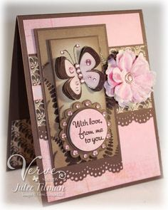 Pink & Chocolate card..lovely