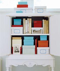shoe box: file storage...