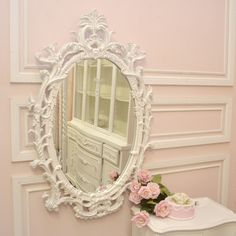 Shabby Cottage Chic Oval Mirror $361.25 Ill take two for that deal! LOL
