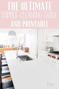 It's time to start the summer cleaning, here's exactly what to clean this summer so you can enjoy the warm sunny season. Grab the free checklist too. #checklist #tips #schedule #list #freeprintable #house #guide #cleanse via @homebyjenn Cleaning Checklist, House Cleaning Tips, Diy Cleaning Products, Spring Cleaning, Cleaning Hacks, Cleaning Routines, Daily Routines, Cleaning Schedules, House Chores