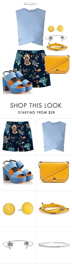 """""""It's in my head, darling I hope you'll be here when I need you the most"""" by alexamkincade ❤ liked on Polyvore featuring River Island, Miss Selfridge, Robert Clergerie, Topshop, Kate Spade, Humble Chic and Eddie Borgo"""