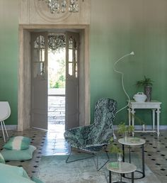 Designers Guild Saraille Wallpaper from Rocket St. George                                                                                                                                                                                 More