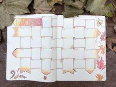 Fall is here! November calendar for my bullet journal