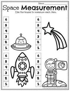 Measure Objects in Space! - Space Worksheets Preschool