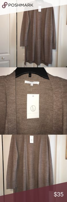Ladies Cardigan NWT Size XL with side slits. NWT Ladies Cardigan XL Sweaters Cardigans