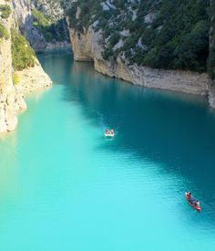Verdon Gorge / You will never see water as blue as the water in this river canyon located in the south of France.