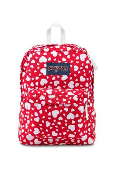 Jansport - Mochila Superbreak High Risk Red Heart To Resist Red Backpack, Rucksack Bag, Hiking Backpack, Backpack Bags, Duffle Bags, Mochila Jansport, Jansport Superbreak Backpack, Red Bags, Cool Backpacks