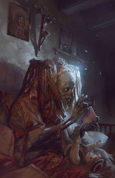 Dark Fantasy Art, Fantasy Artwork, Dark Artwork, Arte Horror, Horror Art, Vampires, Digital Art Illustration, Art Sinistre, Art Noir