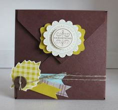 Wednesday 20 November 2013 stampin with beemybear: Schoko-Schachtel Envelope Punch Board of Stampin 'Up.