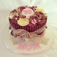 Ladies chocolate birthday cake