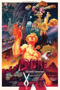 Original poster for Alexandro Jodorowsky's canceled 'Dune' film Jodorowsky's Dune, Dune Art, Dune Film, Fiction Movies, Science Fiction, Dune Frank Herbert, Artist Film, Fractal, Kunst Poster