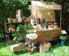 Market Carts such as these can be hired and make a great prop : Vintage Sew and So