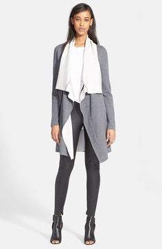 Vince Two-Tone Drape Cardigan available at #Nordstrom