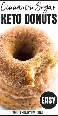 Low Carb Donuts Recipe - Almond Flour Keto Donuts (Paleo, Gluten Free) - This low carb donuts recipe with almond flour is easy to make. These keto donuts taste just like regular sugar coated ones, with options for paleo donuts, too! #wholesomeyum #keto #lowcarb #donut #ketodonut #glutenfree