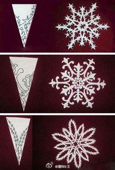 漂亮的雪花剪纸,一起装饰自己的圣诞节吧!