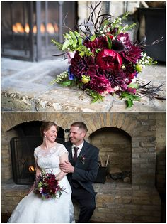 Bridal bouquet designed by Minneapolis wedding florist Artemisia Studios. Photos by Angela Divine Photography (http://www.angeladivinephotography.com/) at WA Frost. #wedding #mnwedding #bride #groom #springwedding #bridalbouquet #boutonniere #fireplace #flowers #floral #indoorwedding #weddinginspiration #florist #minneapolisweddingflorist #minnesotaweddingflorist #artemisiastudios