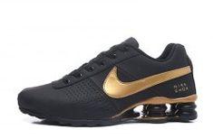Elegant Graceful Nike Shox Deliver Black Gold Shox Nz Men s Athletic  Running Shoes af37a872f