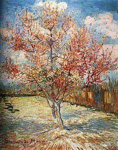 1888 Vincent Van Gogh Pêcher Rose en Fleurs, souvenir de Mauve Huile sur Toile 73x59,5 cm Otterlo, Kröller-Müller Museum