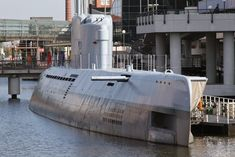 "Type XXI U-boat ""WILHELM BAUER"" (ex U-2540) in BREMERHAVEN port, Germany"