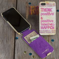 Piace Boutique - Phone Case Think Positive, $26.00 (http://www.piaceboutique.com/phone-case-think-positive/)