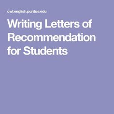 letter of recommendation for classmate