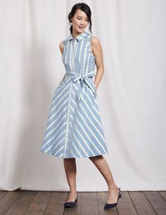 d1d685cc4b1 Poolside cocktails. City heat waves. This cotton shirt dress takes them all  in its