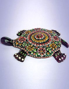 Showpieces Idols Handcrafted Meenakari Tortoise D Corative Costs Rs 660