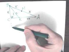 Медиана CM и биссектриса BK прямоугольного треугольника ABC. Репетитор по математике — решение задач ЕГЭ, ГИА и многое другое. Задание C4. Добавьте свой комментарий. Точка M лежит на отрезке AB. На окружности радиуса 32,5, проходящей через точки A и B, взята точка C, удаленная от точек A, M и B на расстояние 52, 50 и 60