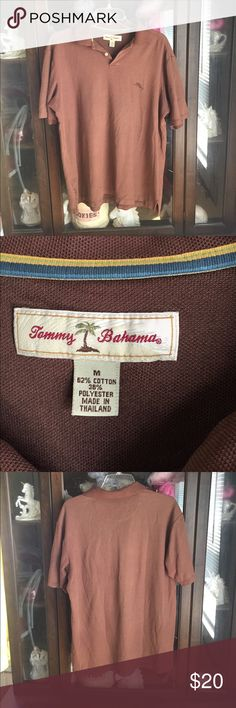 Men's Tommy Bahama Brown Polo Sport Shirt This item is in great shape! Tommy Bahama Shirts Polos
