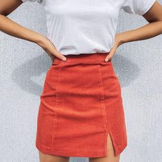 Corduroy miniskirt for you to stand out in total summer fashion. Material: Polyester Silhouette: A-LINE Fabric: Corduroy Waistline: Empire Dress: Above Knee, Mini Fit: True to size. Cheap Skirts, Skirts For Sale, Skirts For Women, 80s Skirts, Cute Skirts, Aesthetic Clothing Stores, Aesthetic Clothes, Aesthetic Grunge, Harajuku