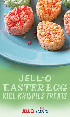 While the kiddos hunt for Easter eggs, we can enjoy a few JELL-O® Easter Egg Rice Krispies Treats of our own. A treat this delicious shouldn't be this easy, but it is. Get out your JELL-O and JET- PUFFED and get started.