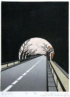 东京出生的艺术家Ray <wbr>Morimura(雷森村)创作的木刻版画