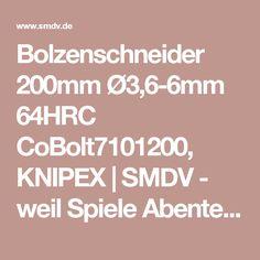 Bolzenschneider 200mm Ø3,6-6mm 64HRC CoBolt7101200, KNIPEX | SMDV - weil Spiele Abenteuer sind